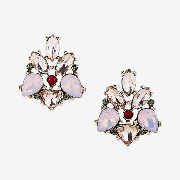 stone statement stud earrings