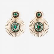 circular sunburst drop earrings