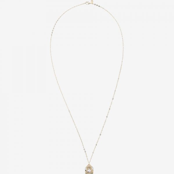 pearl pyramid pendant necklace