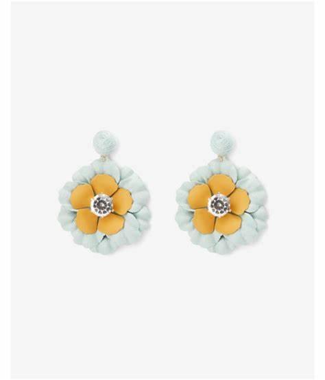 flower drop stone earring